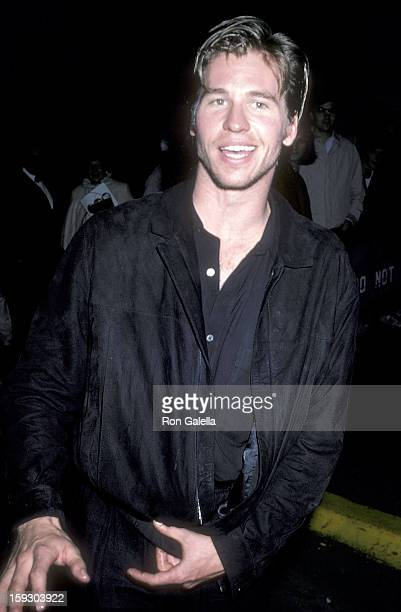 Actor Val Kilmer attends the Top Gun Premiere Party on May 12 1986 at America 9 East 18th Street in New York City
