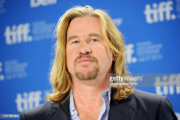 Actor Val Kilmer speaks onstage at the 'Twixt' press conference during the 2011 Toronto International Film Festival at TIFF Bell Lightbox on...