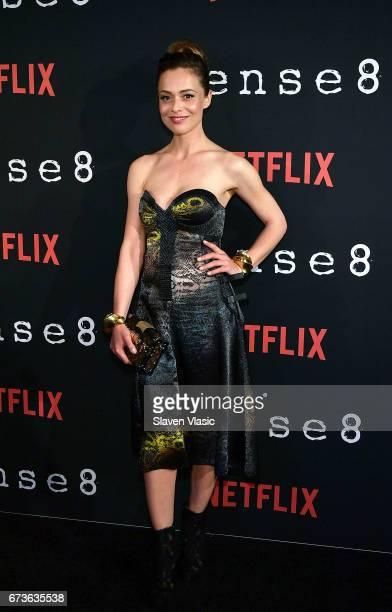 Actor Valeria Bilello attends Sense8 New York Premiere at AMC Lincoln Square Theater on April 26 2017 in New York City