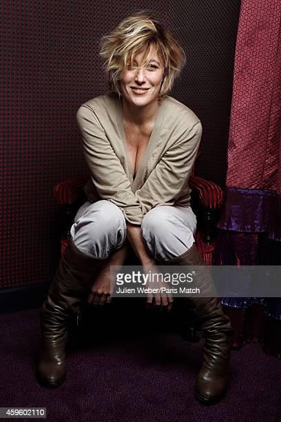 Actor Valeria Bruni Tedeschi is photographed for Paris Match on October 22 2014 in Paris France