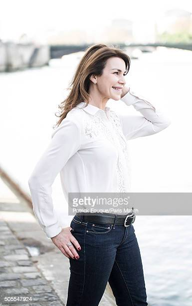 Actor Valerie Kaprisky is photographed for Paris Match on April 1 2014 in Paris France