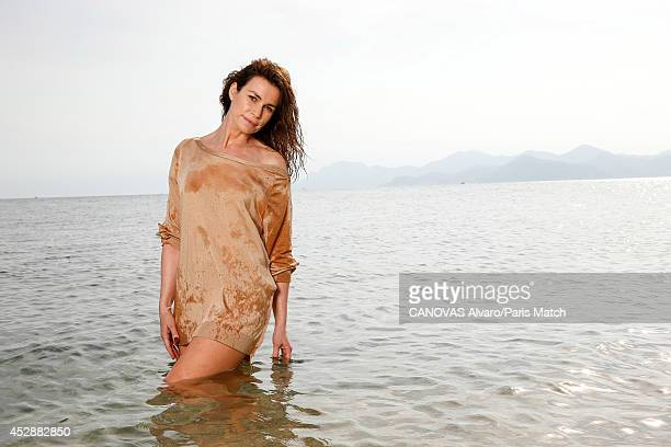 Actor Valerie Kaprisky is photographed for Paris Match on April 11 2014 in Cannes France