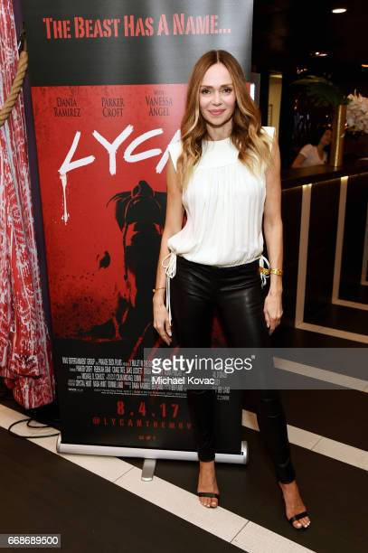 Actor Vanessa Angel celebrates a Toast to Summer with the NEW Limited Edition CIROC Summer Colada at the Hard Rock Hotel Palm Springs on April 14...