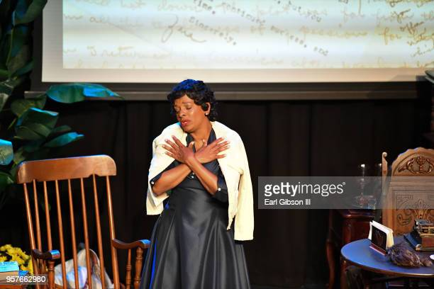 Actor Vanessa Bell Calloway performs as Zora Neale Hurston at WACO Theater Center on May 11 2018 in Los Angeles California