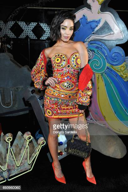 Actor Vanessa Hudgens attends Moschino Spring/Summer 18 Menswear and Women's Resort Collection at Milk Studios on June 8 2017 in Hollywood California