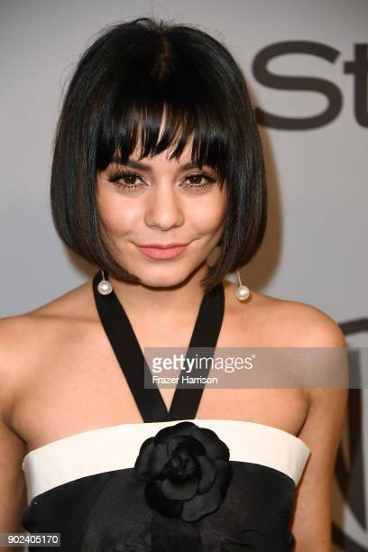 Actor Vanessa Hudgens attends the 19th Annual PostGolden Globes Party hosted by Warner Bros Pictures and InStyle at The Beverly Hilton Hotel on...