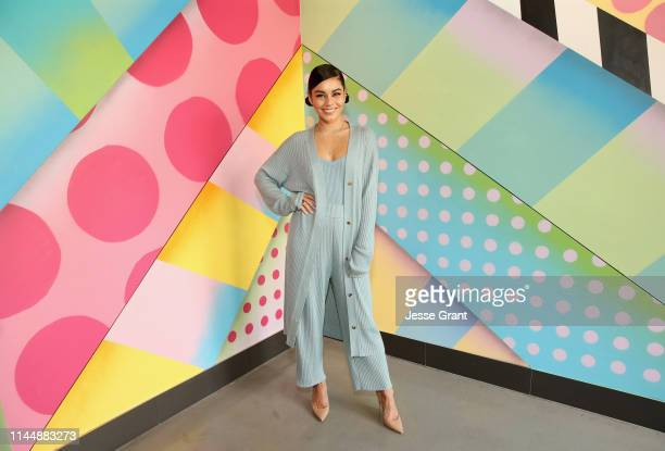 Actor Vanessa Hudgens celebrates the opening of Black Tap Craft Burgers Shakes at Downtown Disney District at Disneyland Resort on May 19 2019 in...