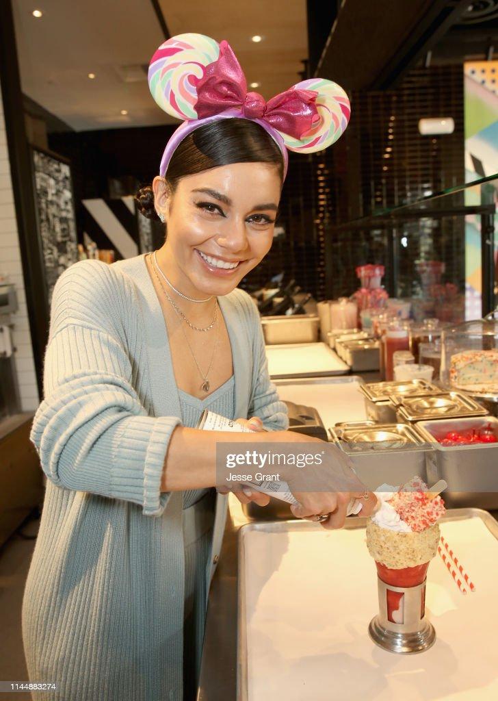 CA: Vanessa Hudgens Celebrates Opening Of Black Tap Craft Burgers & Shakes At Disneyland Resort