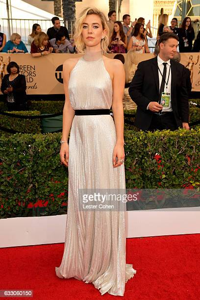 Actor Vanessa Kirby attends the 23rd Annual Screen Actors Guild Awards at The Shrine Expo Hall on January 29 2017 in Los Angeles California