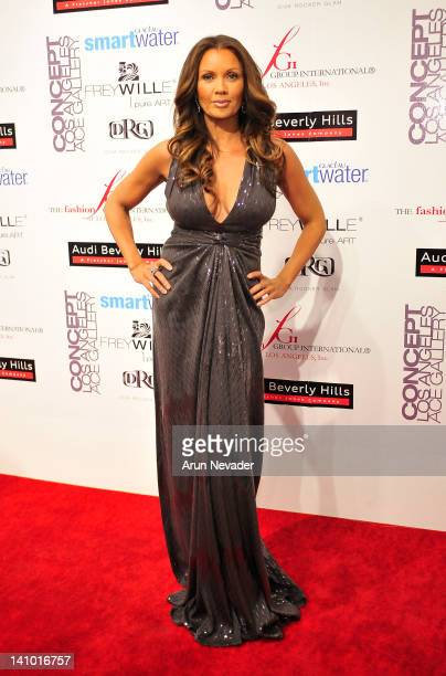 Actor Vanessa Williams appears on the red carpet at Meet The Designer and the Muse at Ace Gallery on March 8 2012 in Los Angeles California
