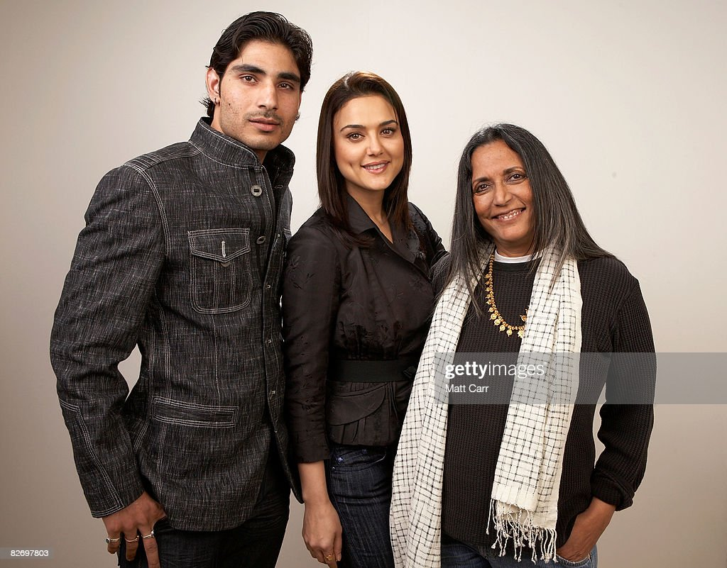 Actor Vansh Bhardwaj actress Preity Zinta and director Deepa Mehta from the film `Heaven on Earth` poses for a portrait during the 2008 Toronto...