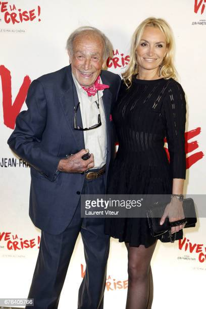 "Actor Venantino Venantini and Actress Christelle Bardet attend ""Vive La Crise"" Paris Premiere at Cinema Max Linder on May 2, 2017 in Paris, France."
