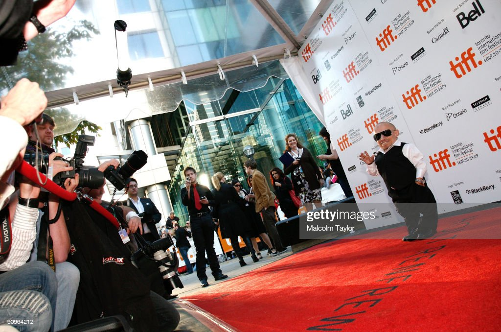 Actor Verne Troyer attends the 'The Imaginarium of Doctor Parnassus' premiere held at Roy Thomson Hall during the 2009 Toronto International Film Festival on September 18, 2009 in Toronto, Canada.