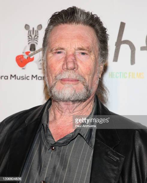 Actor Vernon Wells attends the arrivals for the live performance of the Rock Band Six Gun Sal at Boardners Restaurant on February 16 2020 in...