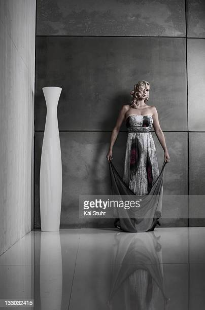 Actor Veronica Ferres is photographed on August 8 2008 in London England