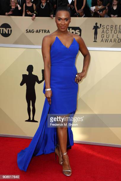 Actor Vicky Jeudy attends the 24th Annual Screen Actors Guild Awards at The Shrine Auditorium on January 21 2018 in Los Angeles California 27522_017