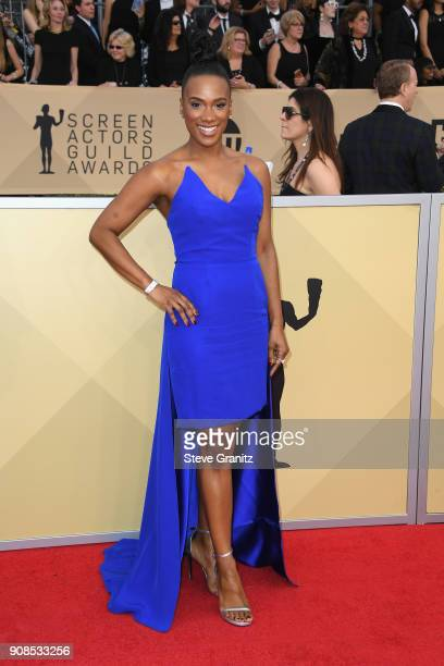 Actor Vicky Jeudy attends the 24th Annual Screen ActorsGuild Awards at The Shrine Auditorium on January 21 2018 in Los Angeles California