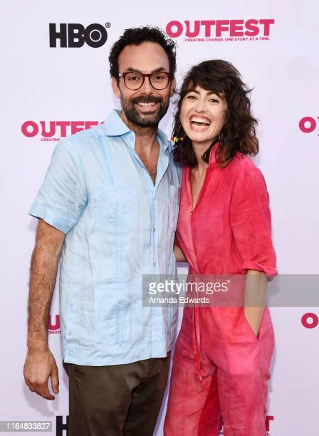 Actor Victor Quinaz and writer and director Hannah Pearl Utt arrive at the 2019 Outfest Los Angeles LGBTQ Film Festival Closing Night Gala Premiere...