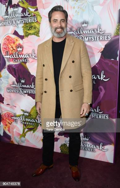 Actor Victor Webster attends Hallmark Channel and Hallmark Movies and Mysteries Winter 2018 TCA Press Tour at Tournament House on January 13 2018 in...