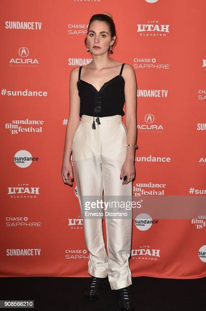 Actor Victoria Carmen Sonne attends the Holiday Premiere during the 2018 Sundance Film Festival at Prospector Square Theatre on January 21 2018 in...