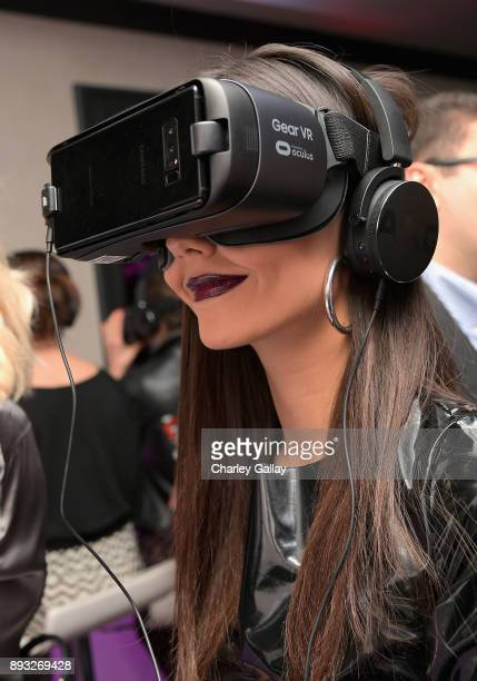 Actor Victoria Justice at the NYX Professional Makeup and Samsung VR Launch Party at Beauty Essex on December 14 2017 in Los Angeles California