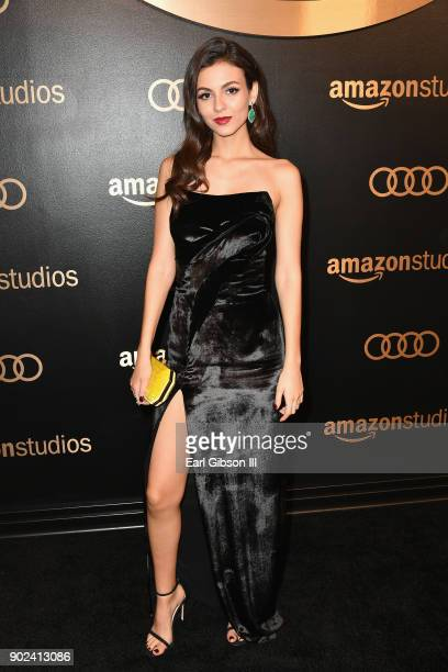 Actor Victoria Justice attends Amazon Studios' Golden Globes Celebration at The Beverly Hilton Hotel on January 7 2018 in Beverly Hills California