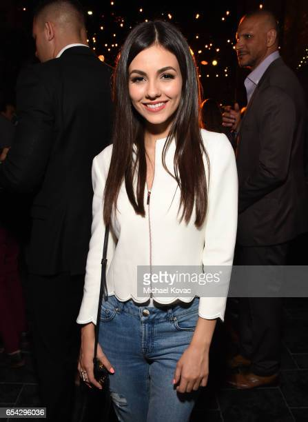 Actor Victoria Justice attends day one of TAO Beauty Essex Avenue Luchini LA Grand Opening on March 16 2017 in Los Angeles California