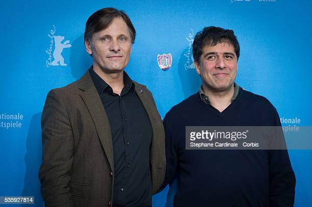 Actor Viggo Mortensen and director Hossein Amini attend the 'The Two Faces of January' photocall during 64th Berlinale International Film Festival at...