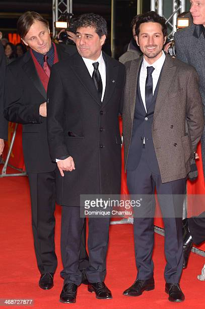Actor Viggo Mortensen and director Hossein Amini attend 'The Two Faces of January' premiere during 64th Berlinale International Film Festival at Zoo...