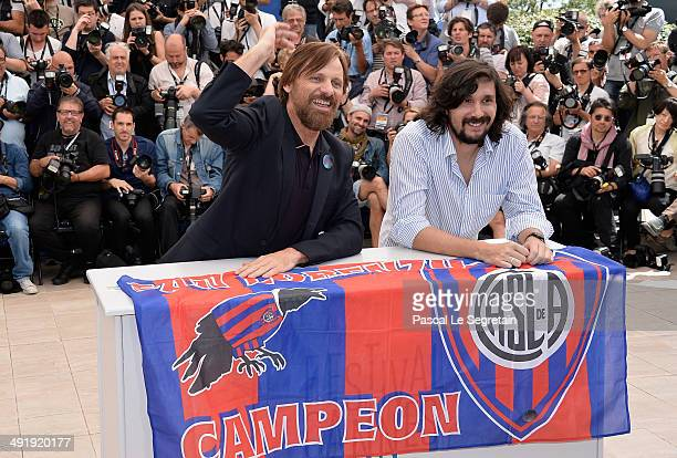 Actor Viggo Mortensen and director Lisandro Alonso attend the 'Jauja' photocall at the 67th Annual Cannes Film Festival on May 18 2014 in Cannes...