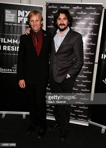 Actor Viggo Mortensen and Director Lisandro Alonso attend the JLC reception during the 52nd New York Film Festival at The Film Society of Lincoln...