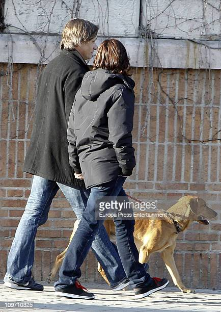 Actor Viggo Mortensen and Spanish actress Ariadna Gil are seen sighting on March 1 2011 in Madrid Spain