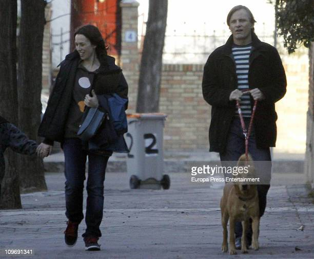 Actor Viggo Mortensen and Spanish actress Ariadna Gil sighting on March 1 2011 in Madrid Spain