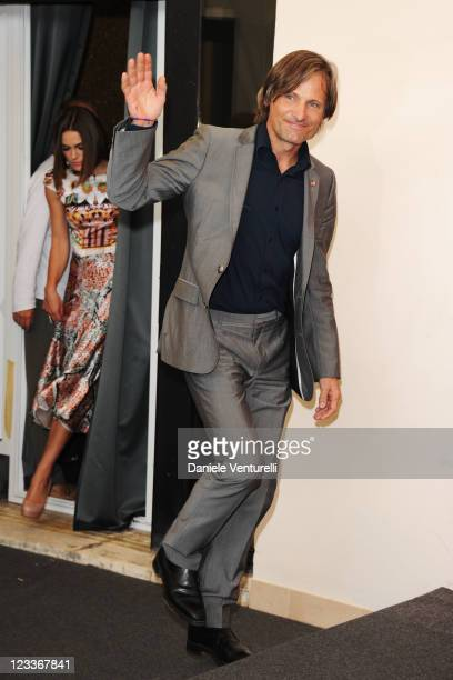 """Actor Viggo Mortensen arrives for the """"A Dangerous Method"""" photocall during the 68th Venice International Film Festival at Palazzo del Casino on..."""