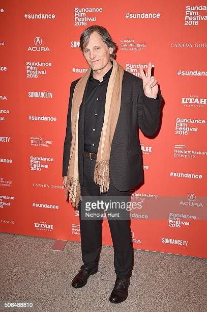 Actor Viggo Mortensen attends the 'Captain Fantastic' Premiere during the 2016 Sundance Film Festival at Eccles Center Theatre on January 23 2016 in...