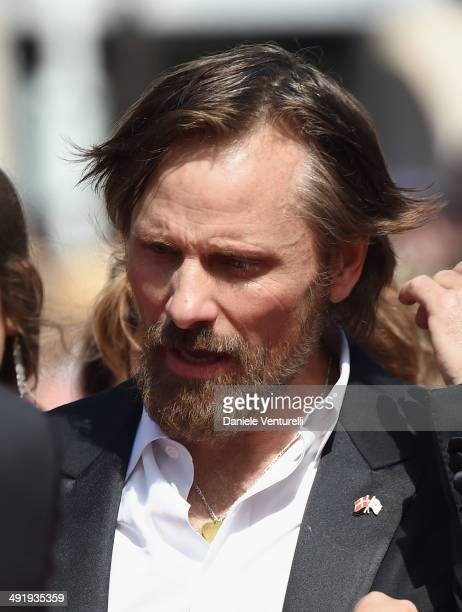Actor Viggo Mortensen attends the 'Jauja' Premiere at the 67th Annual Cannes Film Festival on May 18 2014 in Cannes France