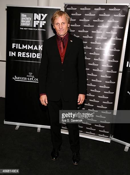 Actor Viggo Mortensen attends the JLC reception during the 52nd New York Film Festival at The Film Society of Lincoln Center on October 7, 2014 in...
