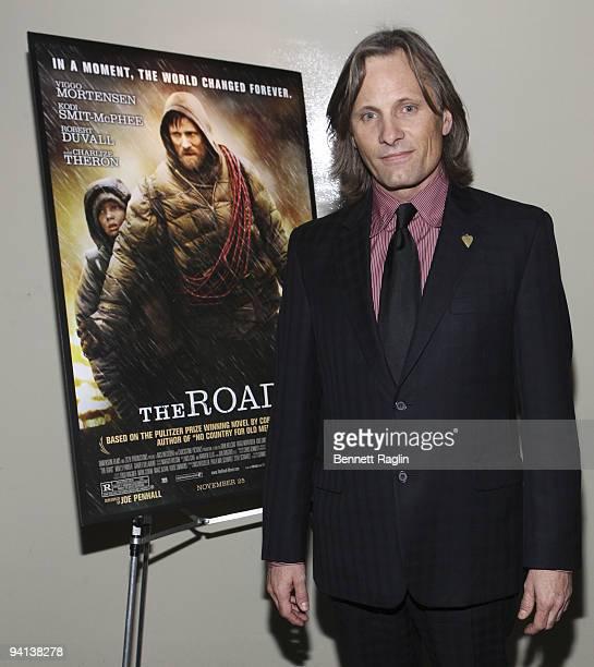 "Actor Viggo Mortensen attends the screening of ""The Road"" during the 2009 New york Variety Screening Series at Landmark's Sunshine Cinema on December..."