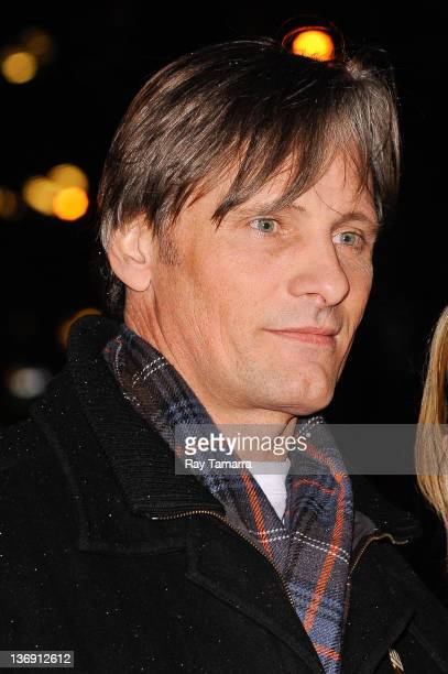Actor Viggo Mortensen enters the 'Late Show With David Letterman' taping at Ed Sullivan Theater on January 12 2012 in New York City