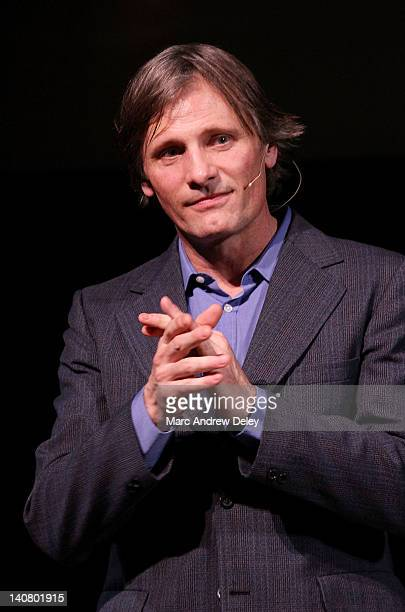 Actor Viggo Mortensen is honored at the 2012 Coolidge Award presentation at the Coolidge Theater on March 5, 2012 in Brookline, Massachusetts.