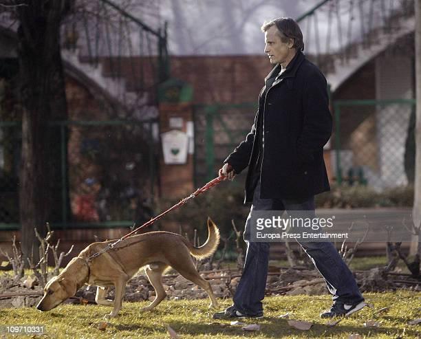 Actor Viggo Mortensen is seen sighting on March 1 2011 in Madrid Spain