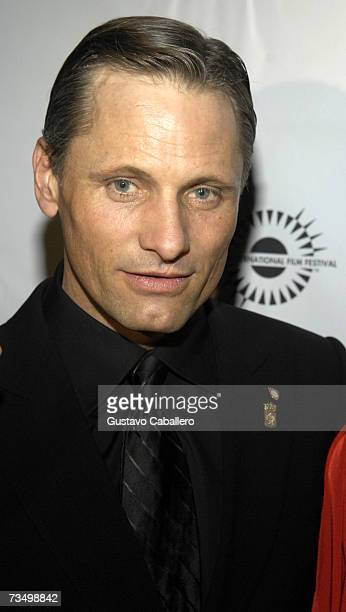 Actor Viggo Mortensen poses before the screening of Alatriste at the Gusman Theater during the Miami International Film Festival March 5 2007 in...