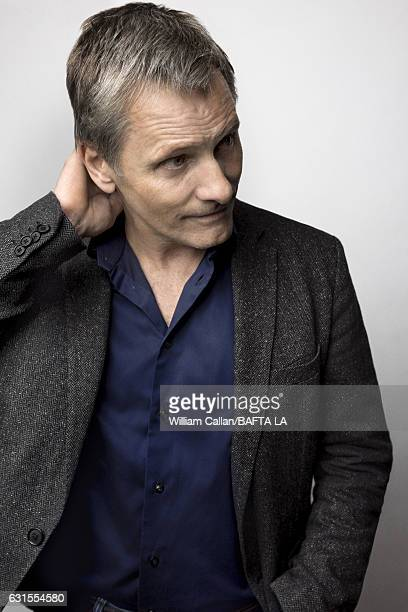 Actor Viggo Mortensen poses for a portraits at the BAFTA Tea Party at Four Seasons Hotel Los Angeles at Beverly Hills on January 7 2017 in Los...