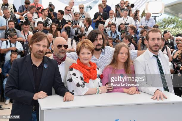 Actor Viggo Mortensen writer Fabian Casas actress Ghita Norby director Lisandro Alonso and actress Viilbjork Malling Agger attend the 'Jauja'...