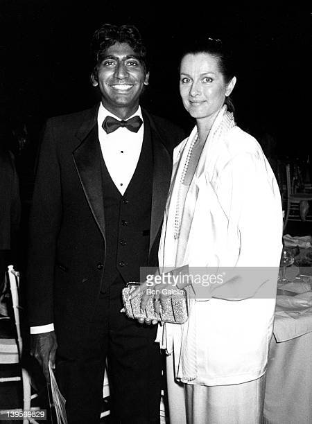 Actor Vijay Armitage and actress Veronica Hamel attend The Television Hall of Fame Awards on March 23 1986 at the Santa Monica Civic Auditorium in...