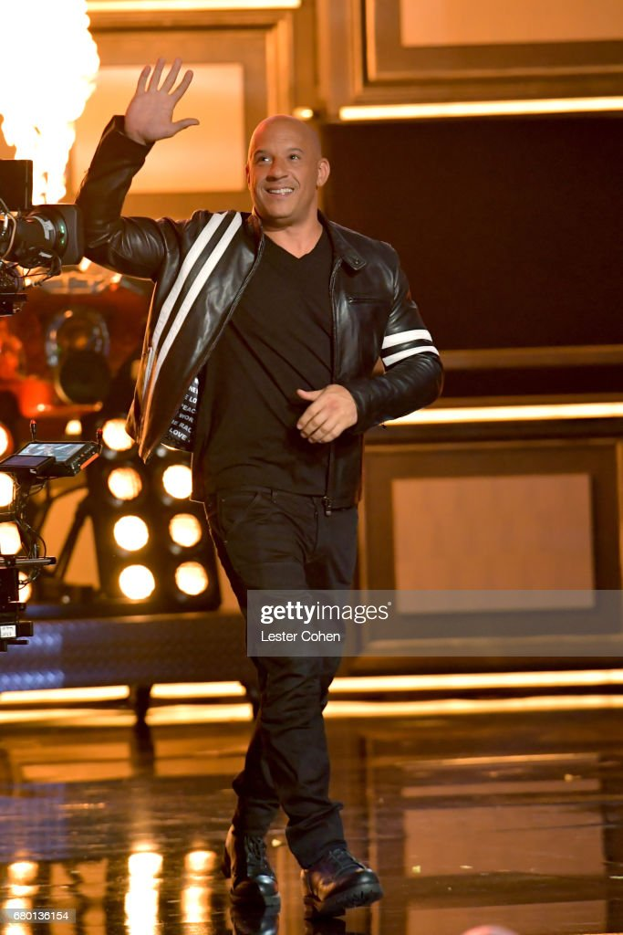 Actor Vin Diesel accepts the Generation Award on behalf of the cast and crew of the 'Fast and the Furious' franchise onstage during the 2017 MTV Movie And TV Awards at The Shrine Auditorium on May 7, 2017 in Los Angeles, California.