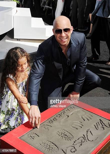 Actor Vin Diesel and daughter Hania Riley Diesel attend Vin Diesel's Hand and Footprint Ceremony At TCL Chinese Theatre at TCL Chinese Theatre IMAX...