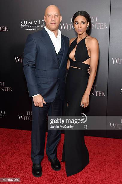 Actor Vin Diesel and singer Ciara attend the New York premiere of The Last Witch Hunter at AMC Loews Lincoln Square on October 13 2015 in New York...