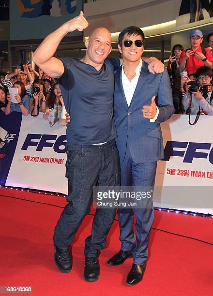 Actor Vin diesel and Sung Kang attend the 'Fast Furious 6' South Korea Premiere on May 13 2013 in Seoul South Korea Vin diesel and Sung Kang are...