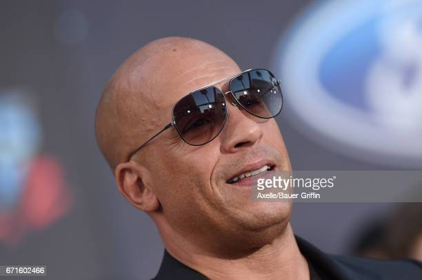 Actor Vin Diesel arrives at the premiere of Disney and Marvel's 'Guardians of the Galaxy Vol. 2' at Dolby Theatre on April 19, 2017 in Hollywood,...